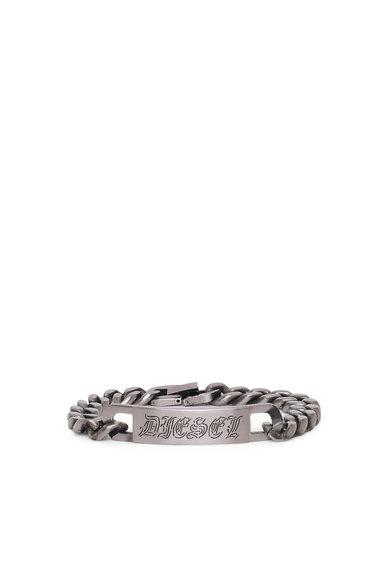 Chain bracelet with Gothic plaque
