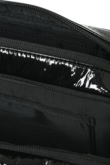 Metallic Cross-Body With Logo Print
