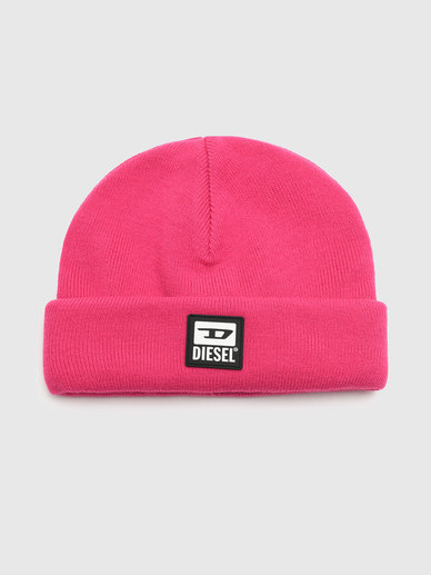 Ribbed Beanie With Pvc Patch