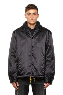 Padded Coach Jacket In Nylon Satin