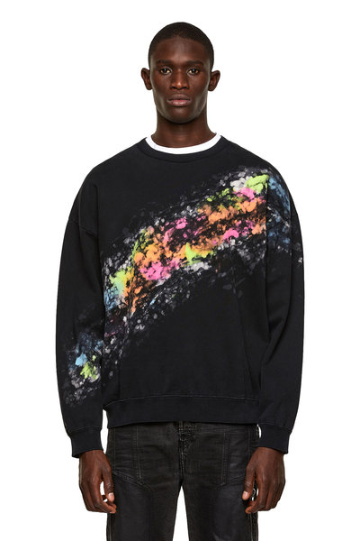 Sweatshirt With Splashed Effect