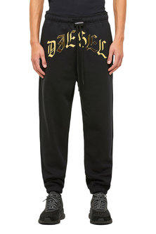 Sweatpants with metallic print