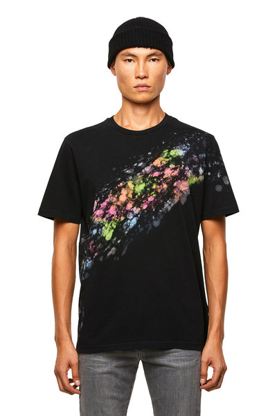 T-Shirt With Splashed Effect