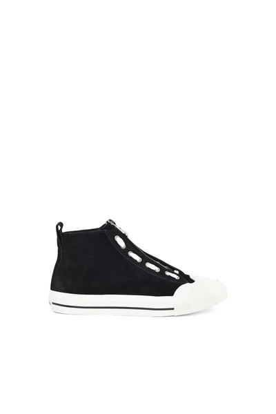 High-Top Sneakers In Suede And Leather