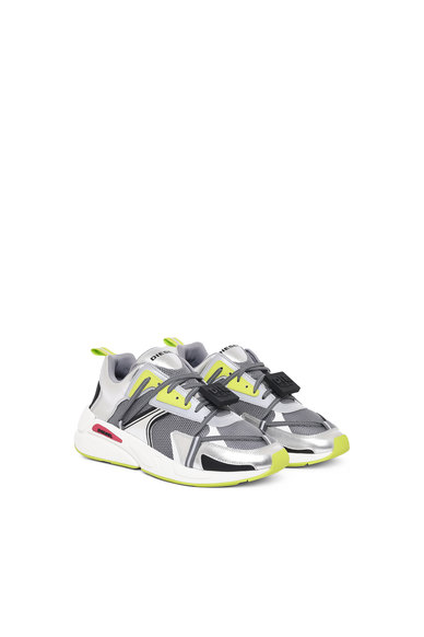 Sneakers In Mesh And Metallic Leather