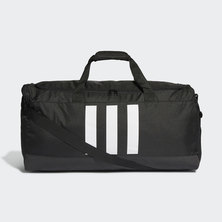 ESSENTIALS 3- STRIPES DUFFLE BAG L