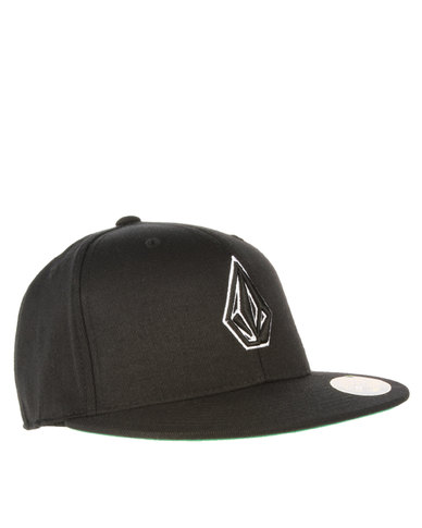 cd93ced093e Volcom 2 Stone 210 Fitted Hat Black