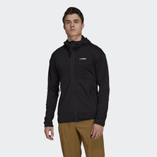 TERREX TECH FLEECE LIGHT HOODED HIKING JACKET
