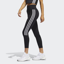 BELIEVE THIS 2.0 3-STRIPES RIBBED 7/8 TIGHTS