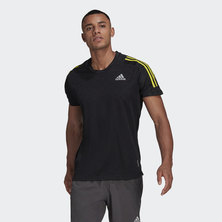 OWN THE RUN 3-STRIPES TEE