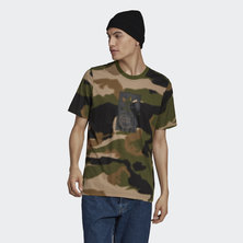 CAMO TONGUE LABEL TEE