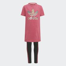 GRAPHIC PRINT TEE DRESS SET