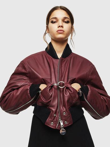 Boxy Leather Biker Jacket
