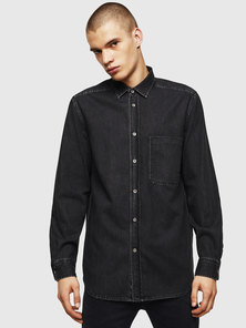 Denim Shirt with Embroidered D Logo