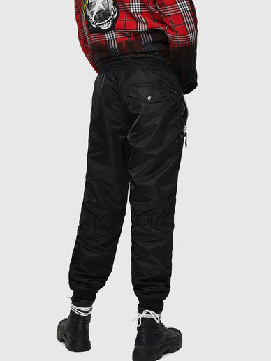 Nylon Pants With Military Details