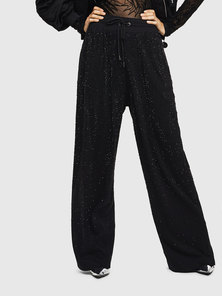 Jersey Pants with Tonal Crystals