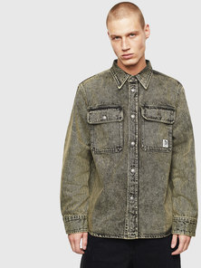 Acid-wash Denim Shirt