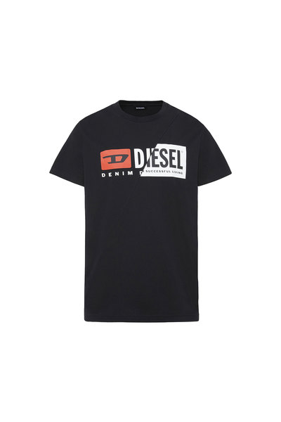 T-Shirt With Dual Logo Print