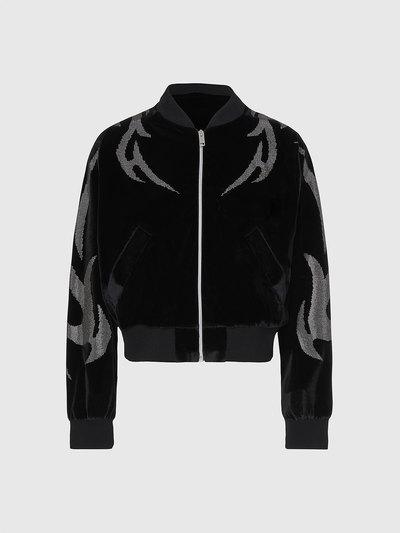 Embellished Chenille Bomber Jacket