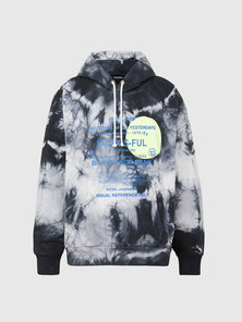Tie-dyed Hoodie with Print