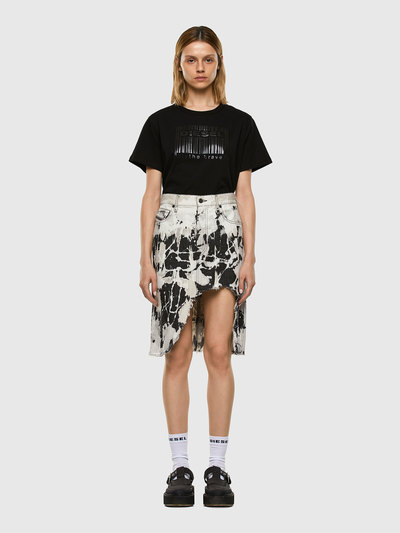 Cotton T-Shirt With Barcode Print