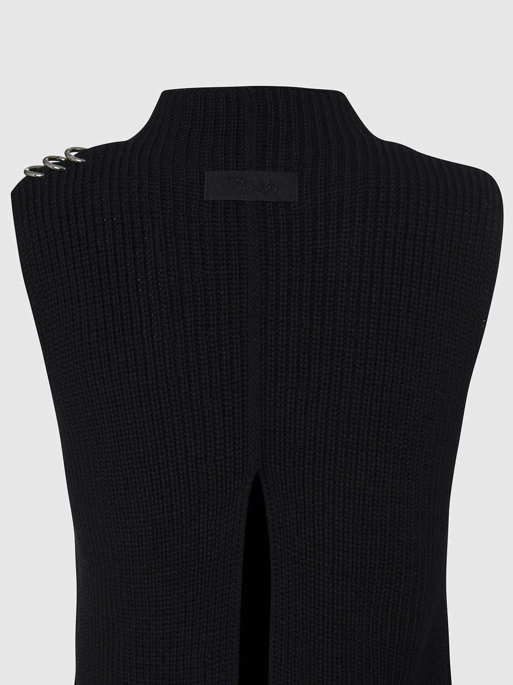 Ribbed Sweater With Ring Details