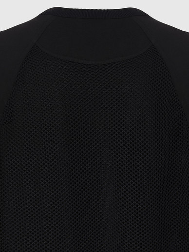 Fishnet Pullover With Logo Intarsia
