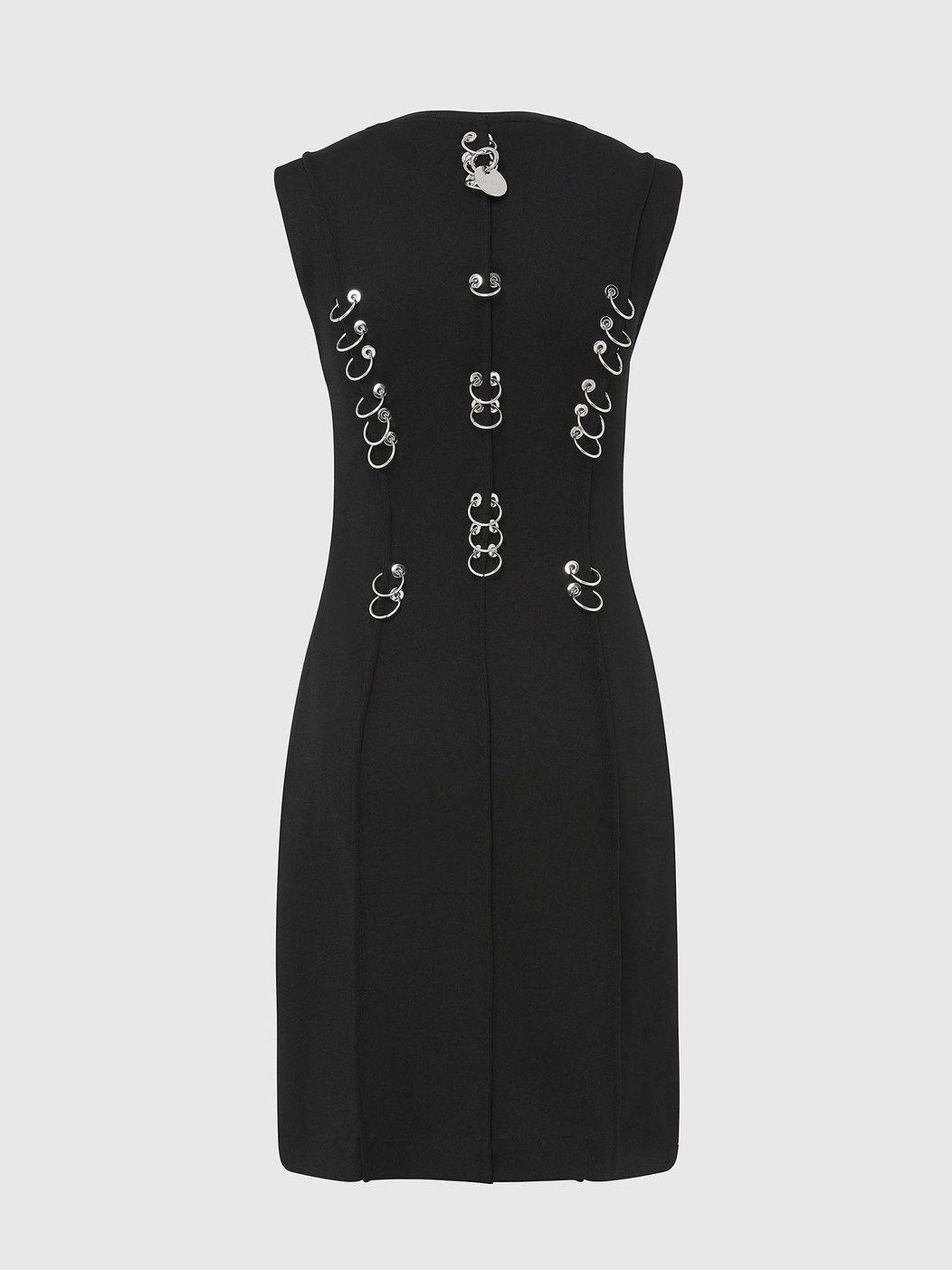Stretch Knit Mini Milano Dress