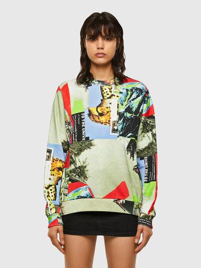 Sweatshirt With Deconstructed Print
