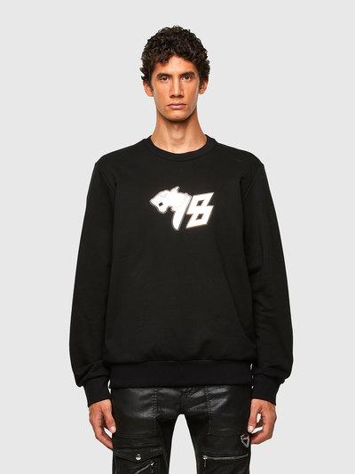 Sweatshirt With 78 Panther Print