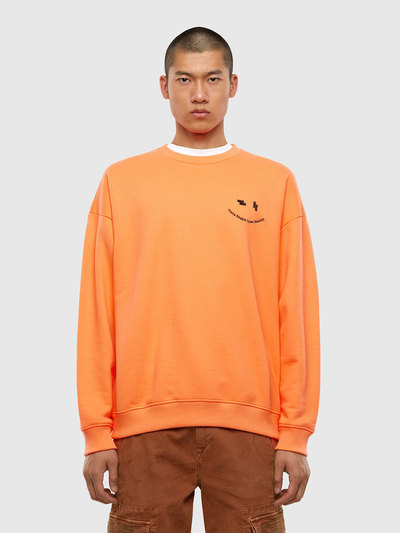 Neon Sweatshirt With Face Embroidery