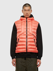 Hooded Vest In Quilted Nylon