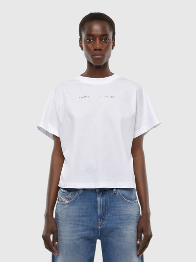 T-Shirt In Cotton With Copyright Lettering