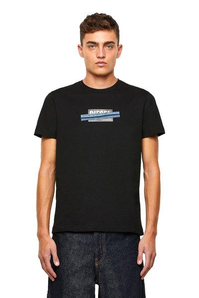 Logo T-Shirt With Denim Tape Detail
