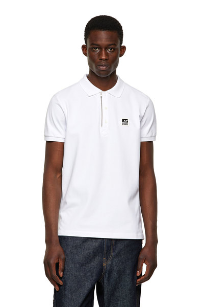 Pique Polo Shirt With Zip Detail