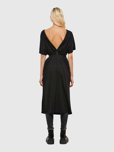 Kimono-Sleeve Dress With Tape Belt