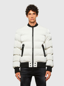 Quilted Bomber Jacket In Coated Tyvek