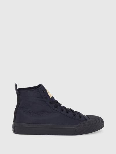 High-Top Sneakers In Monochrome Ruffled Nylon