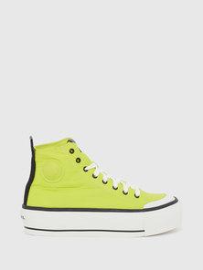 Flatform Sneakers In Ruffled Nylon