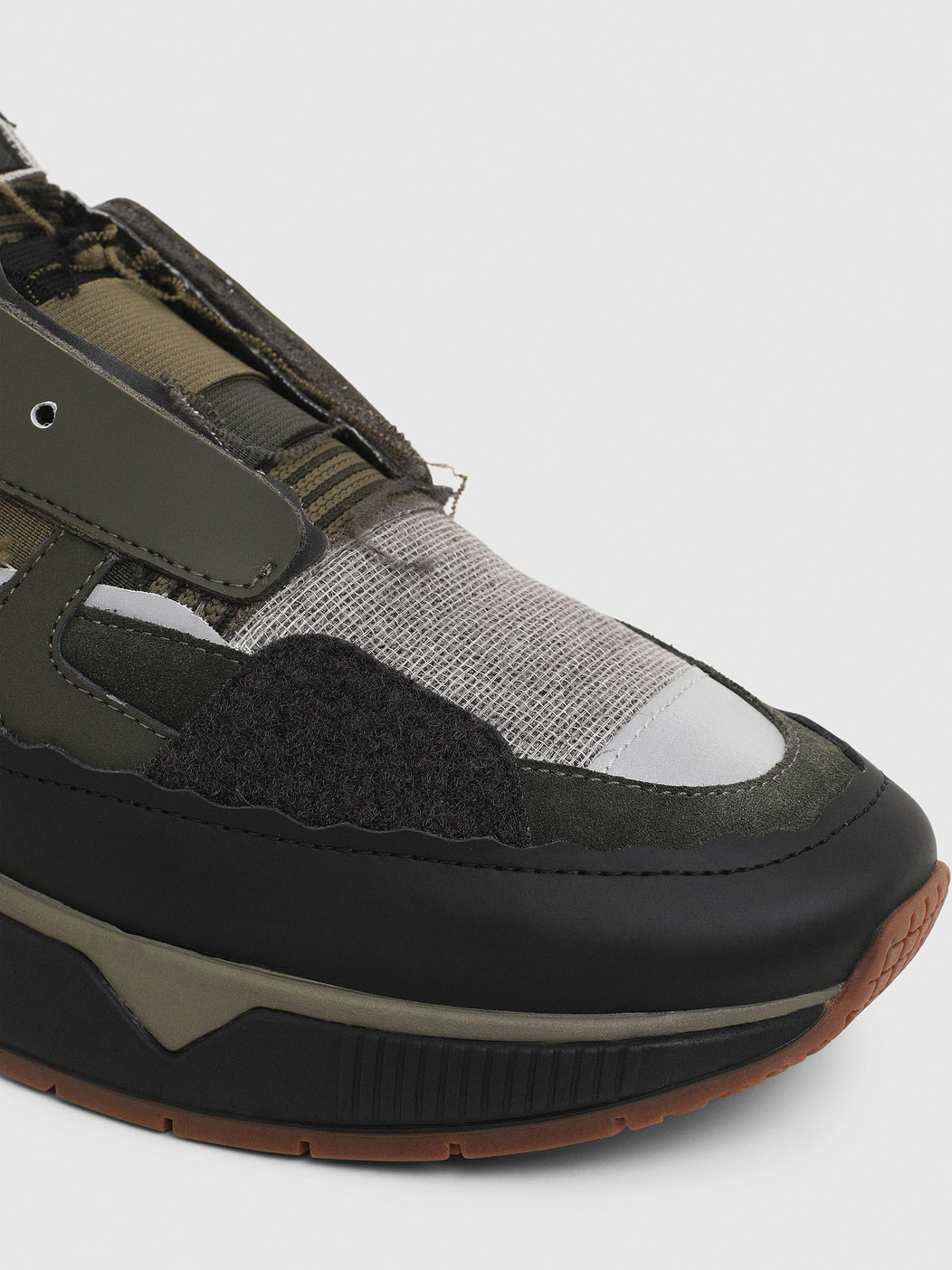 Slip-On Sneakers In Mix Materials