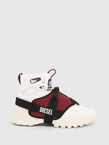 High-Top Sneakers With Gaiter
