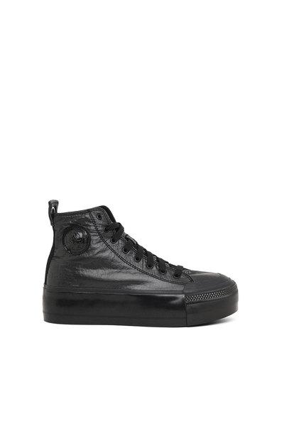 Flatform Sneakers In Metallic Nylon