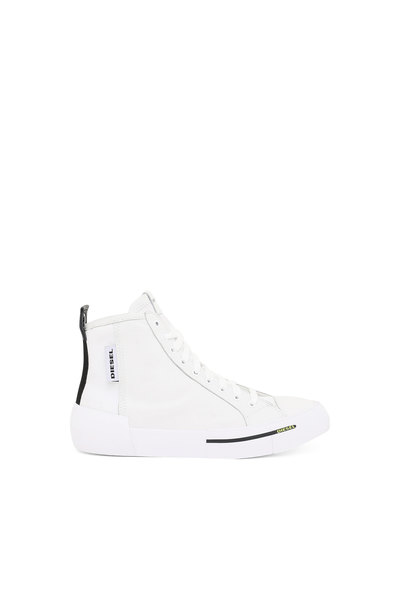 High-Top Sneakers In Nylon And Leather