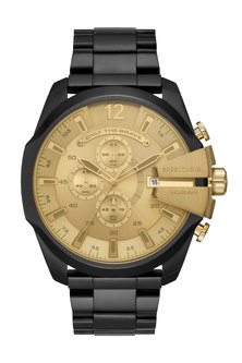 Black Stainless Steel Chronograph Watch