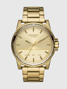 Three-Hand Gold-Tone Stainless Steel Watch