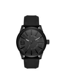 Rasp Total Black Silicone Watch