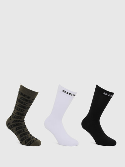 Stretch Cotton Socks With Diesel Logo- 3 Pack