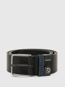 Leather Belt with Mohawk Loop