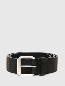 Leather Belt with All-over Perforations