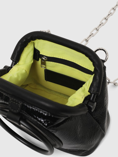 Convertible Clutch In Laminated Leather